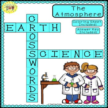 Earth Atmosphere Crossword Puzzle Teaching Resources | Teachers Pay ...