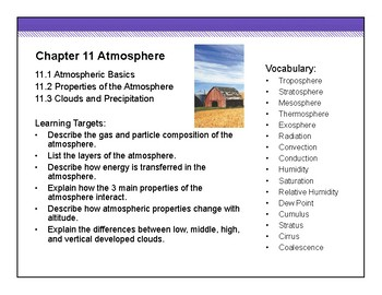 Atmosphere - Earth Science HS - Whole Unit