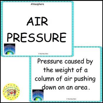 Atmosphere Vocabulary Cards