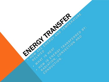 Atmosphere - Energy Transfer (Powerpoint & Activity)