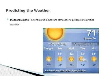 Atmosphere - Forecasting the Weather