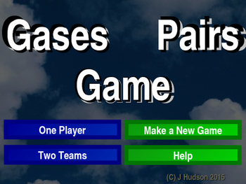 Atmosphere Gases Interactive Matching Pairs Game