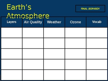 Atmosphere Jeopardy!