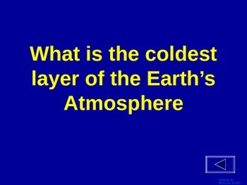 Atmosphere - Jeopardy Review