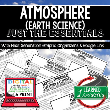 Atmosphere Just the Essentials Content Next Generation Science, with Google