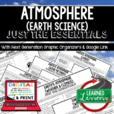 Atmosphere Outline Notes, Atmosphere Bullet Notes, NGSS, Google App
