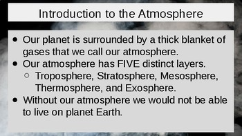 Atmosphere Powerpoint