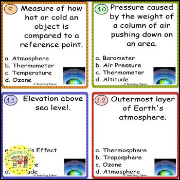 Atmosphere Task Cards