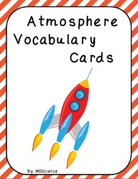 Atmosphere Vocabulary Cards