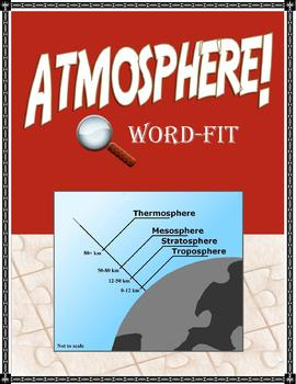 Atmosphere Vocabulary Review WordFit Puzzle