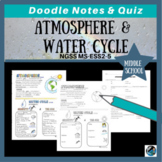 Atmosphere & Water Cycle Doodle Notes {Aligns with NGSS MS-ESS2-4}