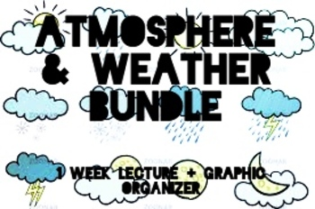 Atmosphere & Weather BUNDLE: 1 Week Powerpoint Lecture with Graphic Organizer!