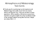 Atmosphere and Meteorology Review Task Cards