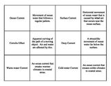 Atmosphere and Ocean Currents Matching Game