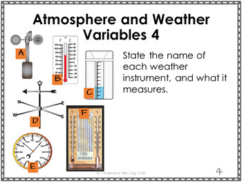 Atmosphere and Weather Exit Ticket or Bell Ringer Task Card Set