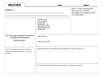 Atmosphere and Weather note-taker