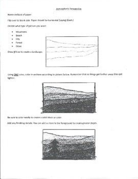 Atmospheric Perspective Directions Hand Out