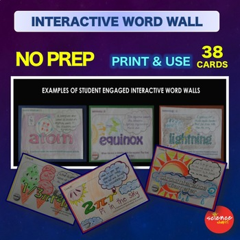 Science Warm Up Atmospheric Pollution Interactive Word Wall Activity NO PREP