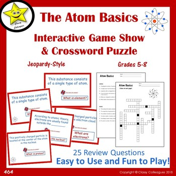Atom Basics Interactive Game Show And Crossword Puzzle
