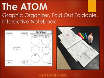 Atom: Graphic Organizer, Fold-Out Foldable, Interactive Notebook