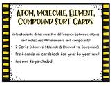 Atom, Molecule, Element, Compound Picture Sort