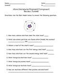 Atom Molecule, Element, Compound Review Packet