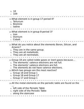 Atom Molecule, Element, Compound Test