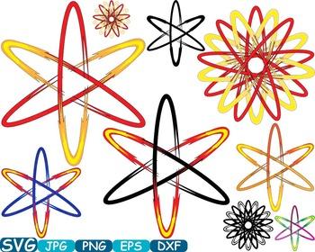 Atom Nuclear Fission Reactor Science Molecules SVG Clip ar