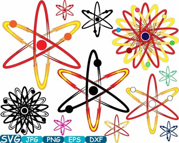 Atom Nuclear Fission Reactor Science Molecules SVG clipart School lab -355S
