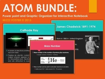 Atom Power Point and Graphic Organizer For INB Bundle