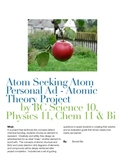 Atom Seeking Atom Personal Ad - Atomic Theory Project
