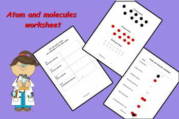 Atom and molecules worksheet