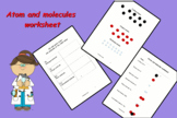 Atom and molecules worksheet