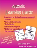 Atom cards help with Periodic table Atomic structure Bohr Model & Dot diagram