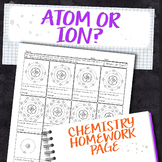 Atom or Ion Chemistry Homework Worksheet