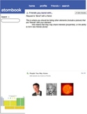 Atombook: social networking for elements