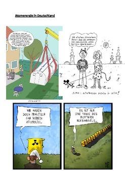 Atomenergie in Deutschland- cartoon with exercises
