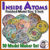 Atomic 3D Model - 5 inch size- Full 18 Atom Series (Class set)