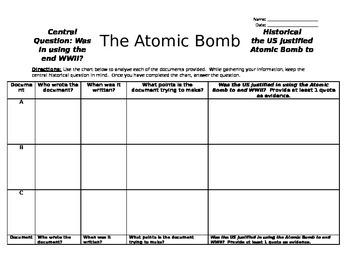 Atomic Bomb Primary Sources