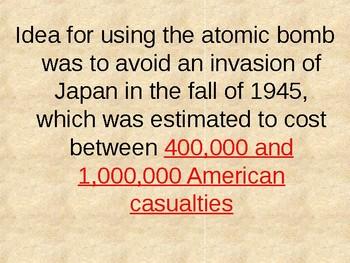 Atomic Bomb (WWII) Powerpoint