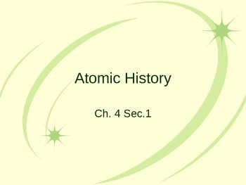 Atomic History PowerPoint