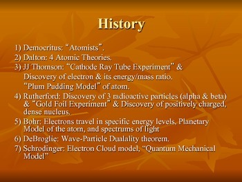 Atomic History & Theory Powerpoint