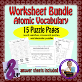 Atomic ID & Vocab Puzzles - Bundle of Word Searches, Cross