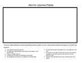 Atomic License Plates