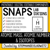 Atomic Mass, Atomic Number & Isotopes Lab Stations - Printable & Digital