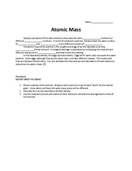 Atomic Mass Lab
