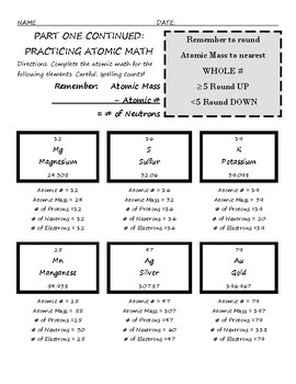 Atomic Math with 2- and 3-D Model Making