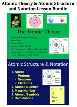 Atomic Model, Structure and Notation - Chemistry Combo Les
