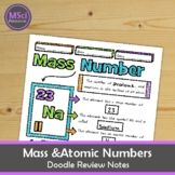 Atomic Number, Mass Number Middle School Chemistry Doodle Notes, Science