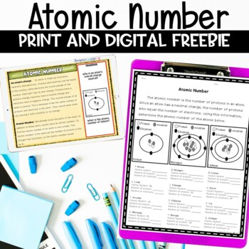 Atomic number review activity by samsons shoppe tpt atomic number review activity urtaz Choice Image